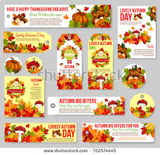 thanksgiving offers thanksgiving day autumn sale poster leaflet stock vector 719154145