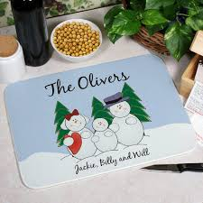 personalized photo cutting boards snowman family kitchen personalized cutting board