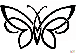 butterfly tattoo coloring page free printable coloring pages