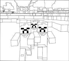 minecraft zombie coloring pages coloringstar