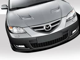 mazda 3 2009 2003 2013 mazda3 4dr sedan carbon fiber u0026 fiberglass hood 2004
