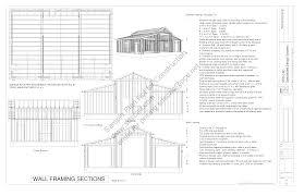 design blueprints for free free barn plan g25845 x 30 10 barn plans blueprints