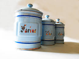 28 blue kitchen canisters blue canister set 3 piece ceramic blue kitchen canisters 1930 s french kitchen blue canisters set by