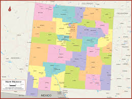 Map Of Albuquerque New Mexico by New Mexico Wall Map Political