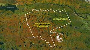 algonquin park u0027s fall colour space satellite