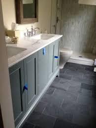 Grey Slate Tile Bathroom Shop Style Selections Ivetta Black Slate Glazed Porcelain Indoor