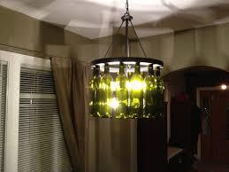 Wine Bottle Light Fixtures Kitchen Wine Bottle Lamp Ideas With Green Wine Bottle Chandelier