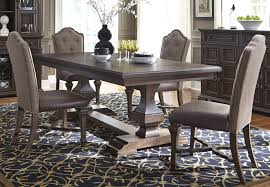 lucca dining brown double pedestal dining room set from liberty