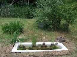 Garden Pond Ideas Made My Old Bath Into A Pond Dream Garden Pinterest Garden