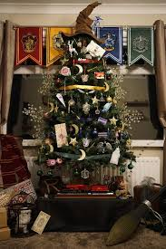 themed christmas tree this harry potter themed christmas tree is a feast for potterheads