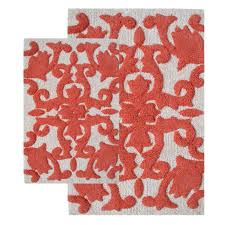 coral color bathroom rugs in best bathroom colors gj home design