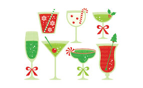 christmas champagne cocktails christmas cocktails digital clipart les cl53 by lemon elf studio