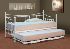 stunning white metal day bed with or without trundle and mattress