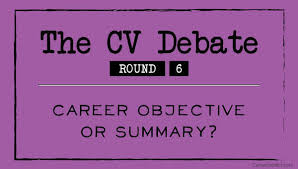 resume summary vs objective the cv debate round 1 one page or two page