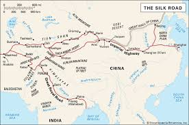map of the road silk road facts history map britannica