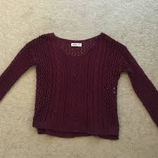 maroon sweaters 40 hollister sweaters sleeves burgundy sweater from