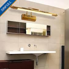 European Bathroom Lighting American Copper Led Mirror Front Lamp European Bathroom Mirror