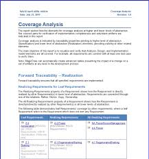 report requirements template creative coverage analysis report template with blue color and