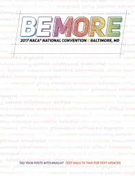 Baltimore Convention Center Floor Plan 2017 Naca National Convention Be More By National Association