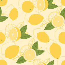 seamless lemon pattern seamless lemons pattern stock vector ritamalinina 111150110