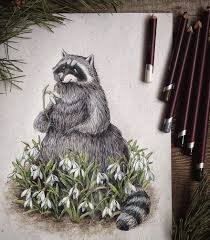 fairytale inspired color pencil drawings by russian artist bored