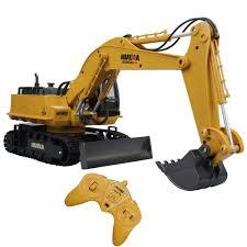 Radio Controlled Front Loader 1 10 Scale Rc Bulldozer Construction Amazon Com Fistone Rc Excavator 11ch 2 4g Alloy Bulldozer Crawler