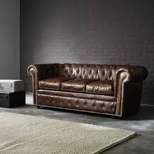 canap convertible chesterfield canapé lit chesterfield 3 places en cuir marron chesterfield