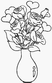 Vase Of Flowers Drawing Beautiful Flowers With Vase For Draw Drawing Of Sketch