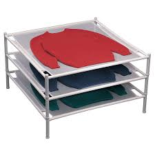 sweater drying rack amazon com household essentials 04004 stackable mesh laundry