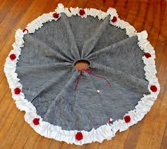 diy tree skirt trim the tree hop view from