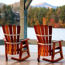 Wood Patio Chairs Rocking Chair For Patio Wooden Furniture Natural Color Contoured