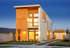 modern house architecture with contemporary interior design by a