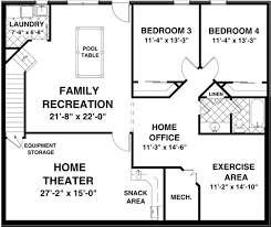 basement home floor plans ranch house plan chp 44927 at coolhouseplans