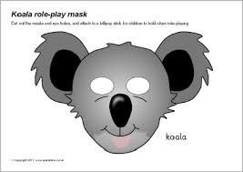 koala role play masks sb6986 sparklebox