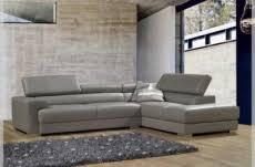 canapé cuir gris clair canap mobilier privé