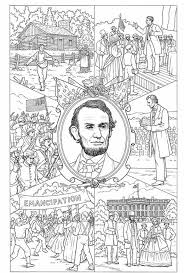 lincoln coloring pages abraham lincoln coloring page printable history states and