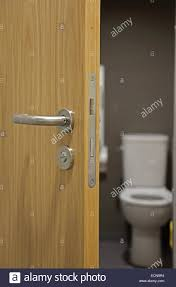 Bathroom Door Handles A Partially Open Modern Oak Finish Interior Door Showing Door