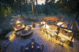 landscape lighting design ideas and outdoor small kitchen with