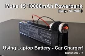 make 10000mah powerbank for 1 with laptop battery and car charger