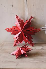 Red Folding Snowflake Star Winter Crafts Pinterest Star
