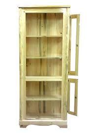 reclaimed wood curio cabinet rustic unfinished handpeeled curio cabinet w4 shelves reclaimed