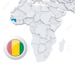 Guinea Africa Map by 3d Modeled Map Of Africa With Highlighted State Of Guinea With