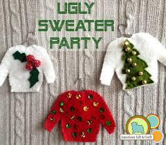 sweater felt ornaments week american