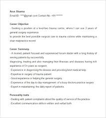 Job Objective On Resume by Doctor Resume Templates U2013 15 Free Samples Examples Format