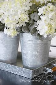 Galvanised Vases Metal Wall Vases In The Dining Room Decor Styles Flower Vases