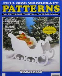 santa s sleigh large size wood craft pattern