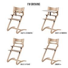 chaise haute b b bois chaise haute bébé design et évolutive en bois noir leander