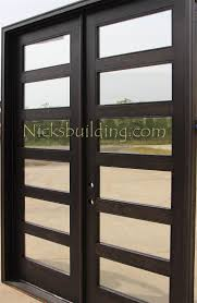 contemporary double door exterior craftsman style double doors
