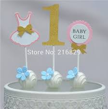 free ship 1 year old baby birthday cake top set of 3 in