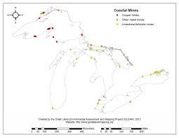 Lake Superior Map Coastal Mines Gleam